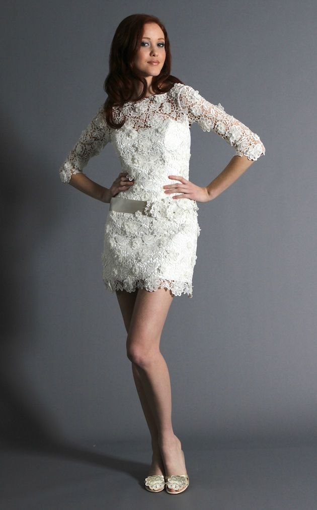 short wedding dresses that are long on glamour