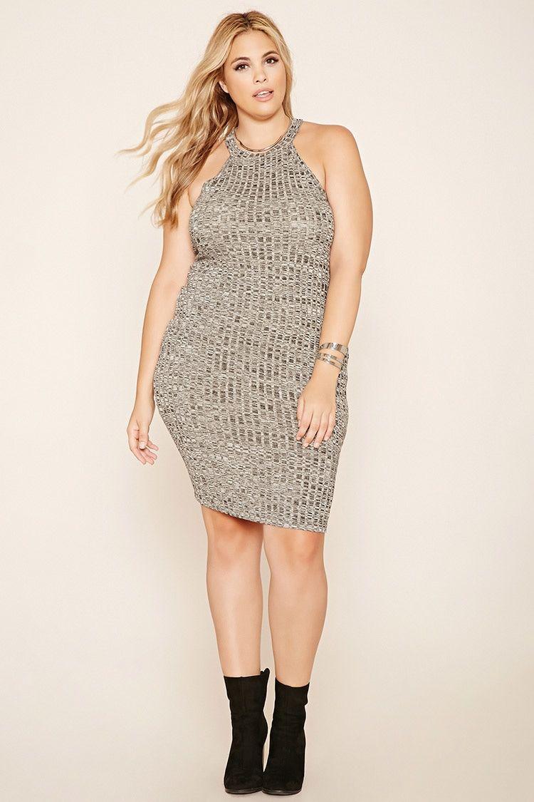 Plus Size Marled Tank Dress