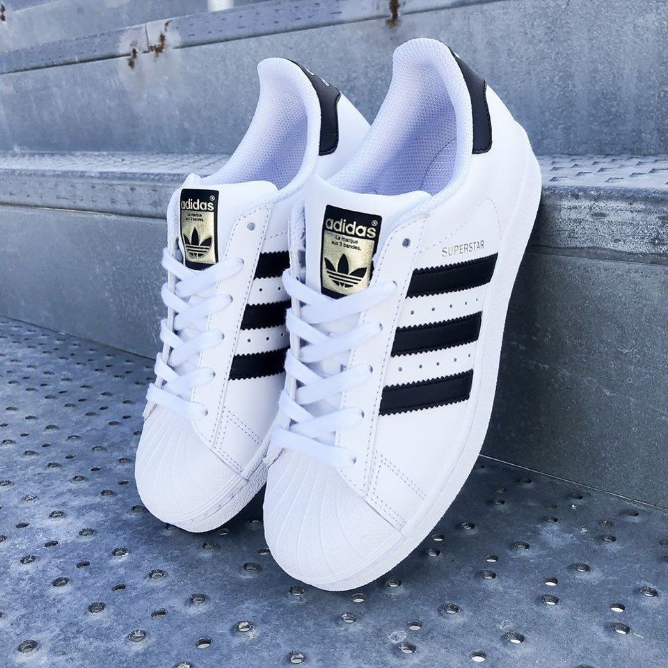 Womens adidas Superstar Athletic Shoe - White / Black | Adidas ...