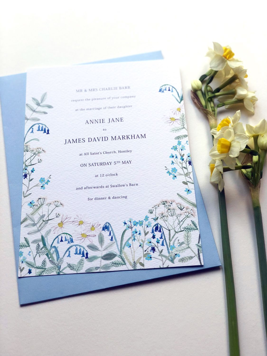 SPRING HEDGEROW WEDDING INVITATION | By Hollyhock Lane Lots of ...