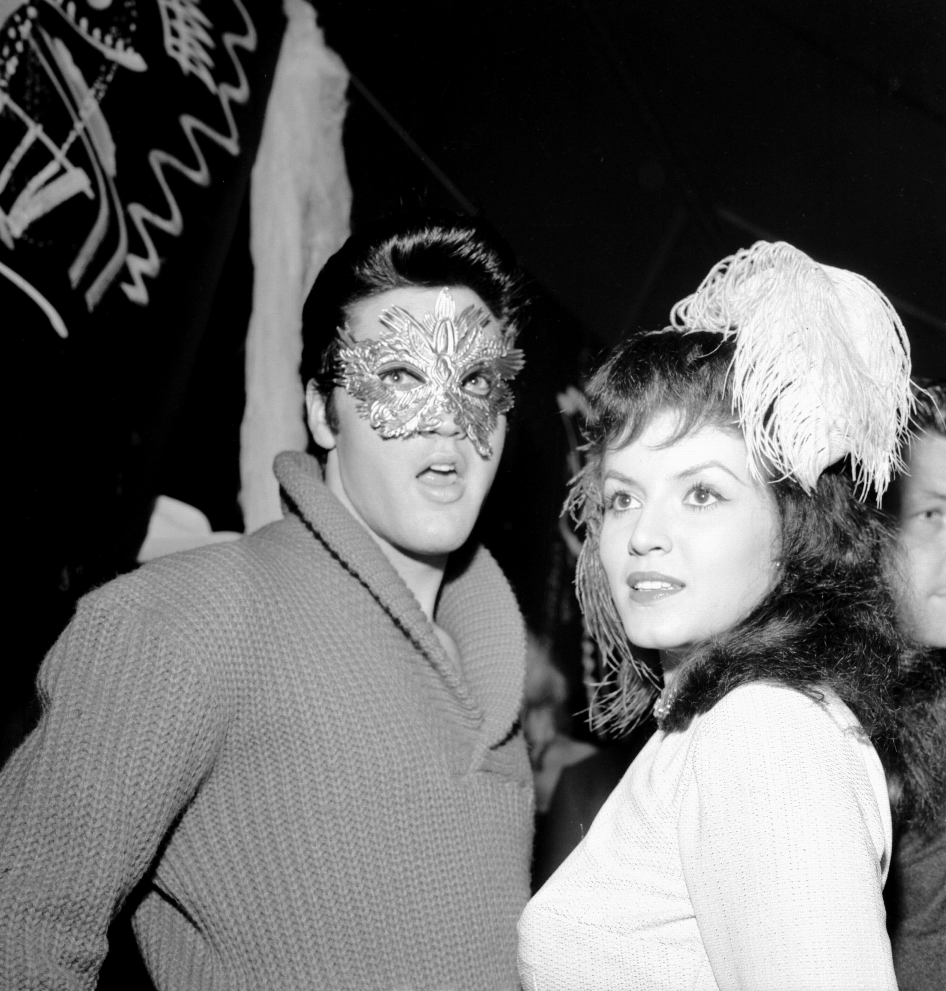 Elvis at a Halloween party in Hollywood in october 31 1957 ...