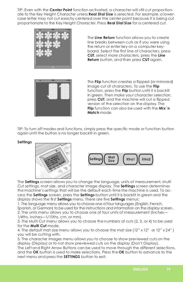 cricut expression user manual learn cricut scrapbooking rh pinterest com Cricut Expression 2 Cartridges Cricut Expression Carrying Case