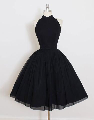 Black high neck A-line special high quality short knee-length Prom Dresses Gown,cheap homecoming prom gown BD1705511