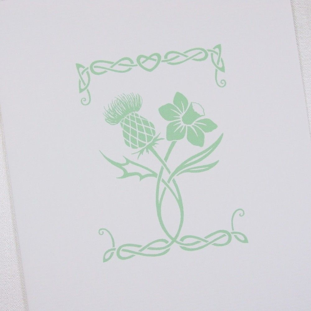 Welsh Wedding Invitations: Thistle & Daffodil - Paris Collection