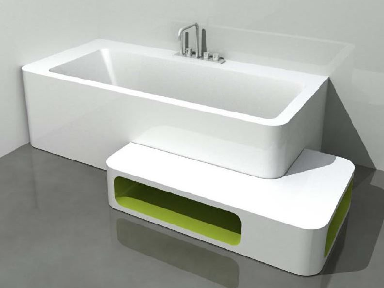 Awesome Corner Rectangular Bathtub UNOPUNTOZERO | Corner Bathtub   LASA IDEA