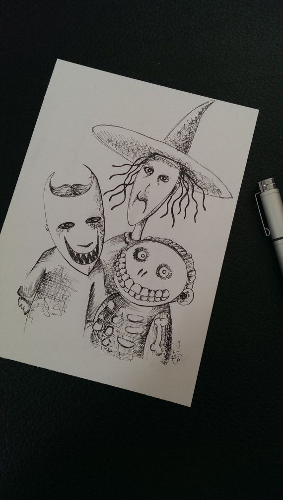 Lock Shock and Barrel, Nightmare before Christmas Ink Drawing   Just ...