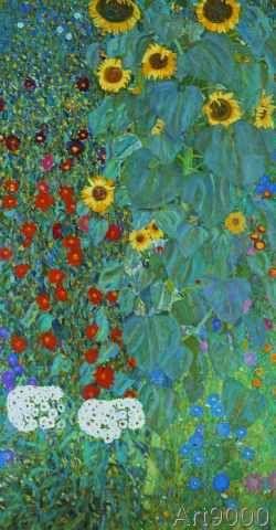 Gustav Klimt Bauerngarten Sonnenblumen Post Card Klimt Art Gustav Klimt Klimt