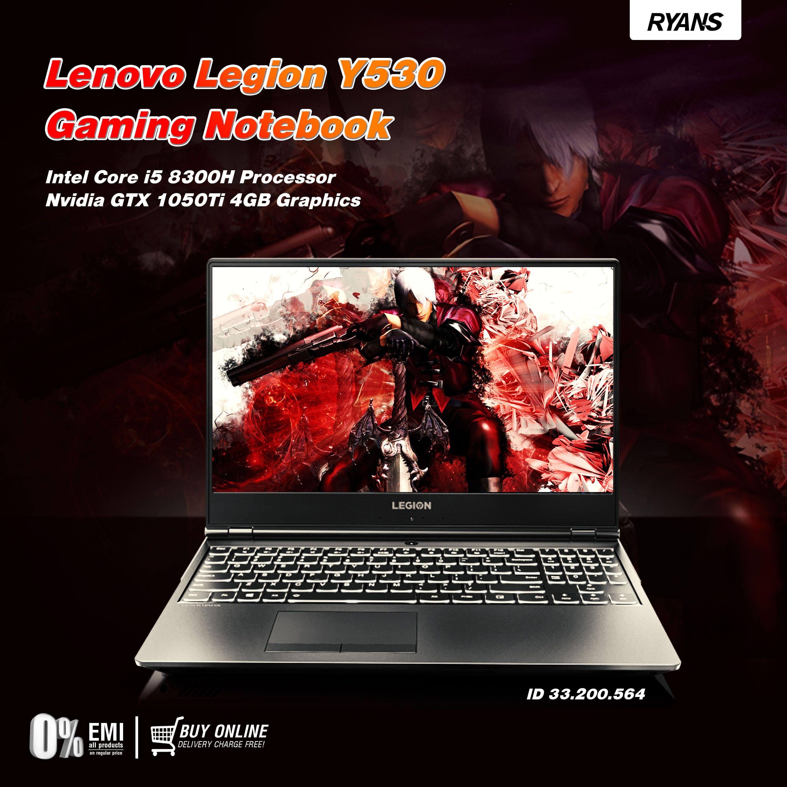 Lenovo Legion Y530 Lenovo, Gaming notebook, Computer shop