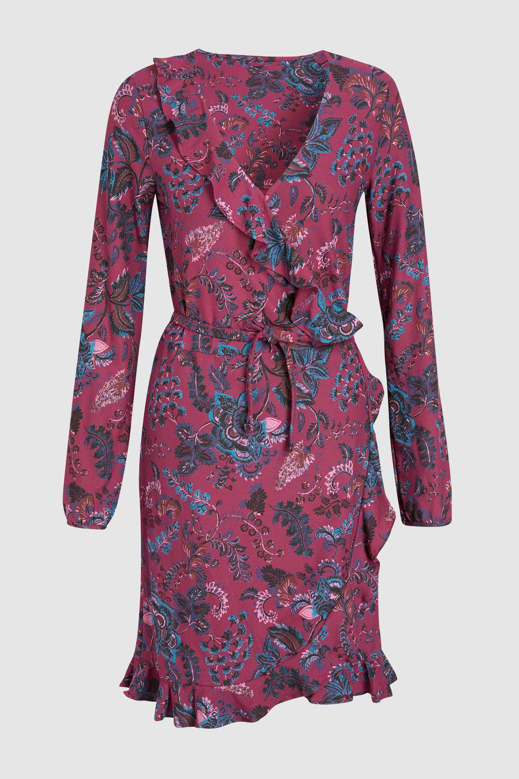 Womens Next Plum Print Wrap Dress