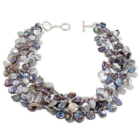 Rarities Multicolor Cultured Keshi Pearl Necklace