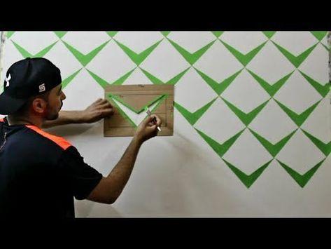 ديكور ثري دي بأقل تكلفة وابسط الادوات Youtube Diy Wall Painting Wall Painting Decor Creative Wall Painting