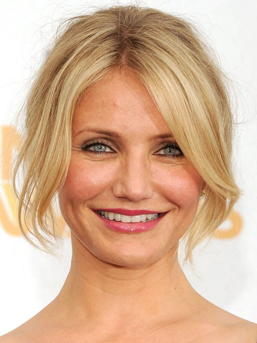 the best (and worst) bangs for round face shapes   pinterest   face