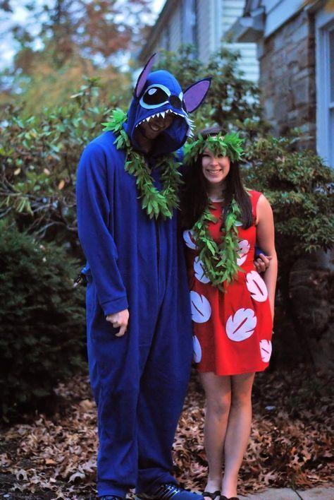 Diy Lilo Stitch Couple Costume Lilo And Stitch Costume Disneycostume L Cute Couple Halloween Costumes Couple Halloween Costumes Cute Halloween Costumes