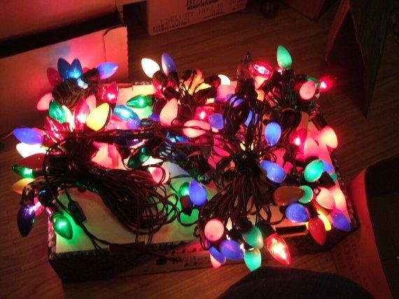 Vintage Christmas Lights.Retro Christmas Lights Vintage Late 1960 S Christmas