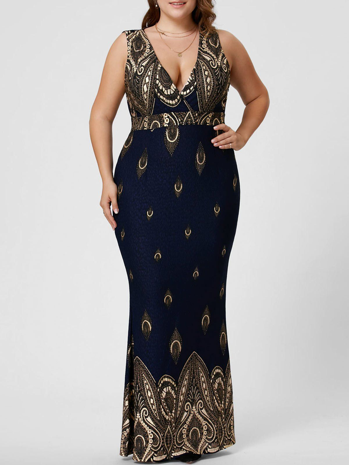 0c4c9be5de SHARE & Get it FREE | Plus Size Low Cut Sleeveless Mermaid DressFor Fashion  Lovers only:80,000+ Items • New Arrivals Daily • Affordable Casual to Chic  for ...