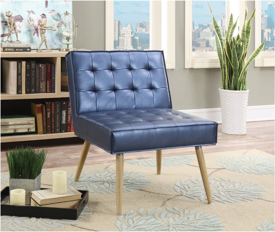 Ave Six Amity Chair Tufted Accent Sizzle Azure Silver: Tufted Accent Chair, Accent Chairs