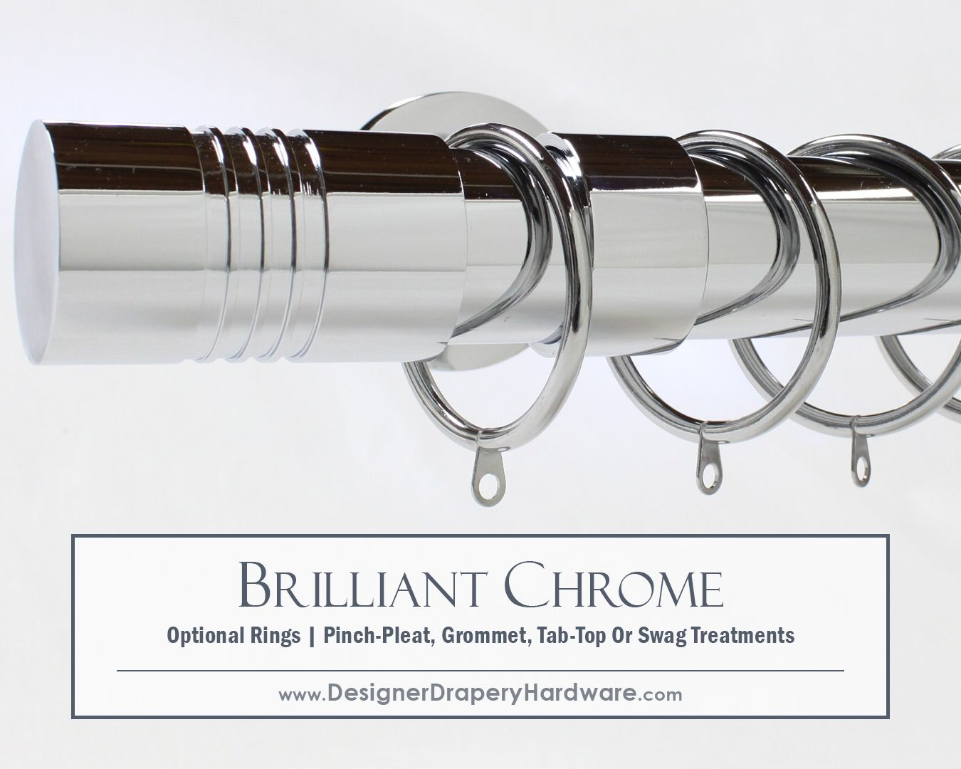 Chrome Rods Are Perfect For Tab Top Or Grommet Draperies Or Use