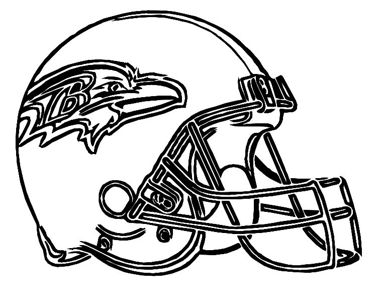 Ravens Batimore Helmet Coloring Pages Coloring pages