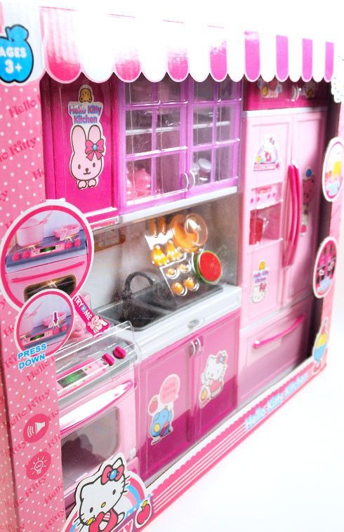 Barbie 3 Piece Vogue Modern Hello Kitty Kitchen Set Only 1