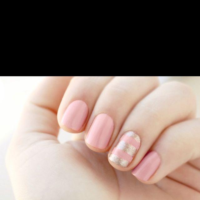 pastel pink n gold