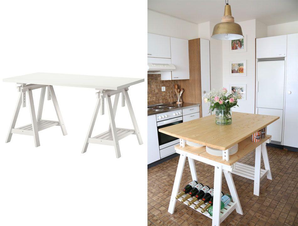 Les Meilleures Idées De La Catégorie Tables à Tréteaux Sur - Ikea table salle a manger pour idees de deco de cuisine