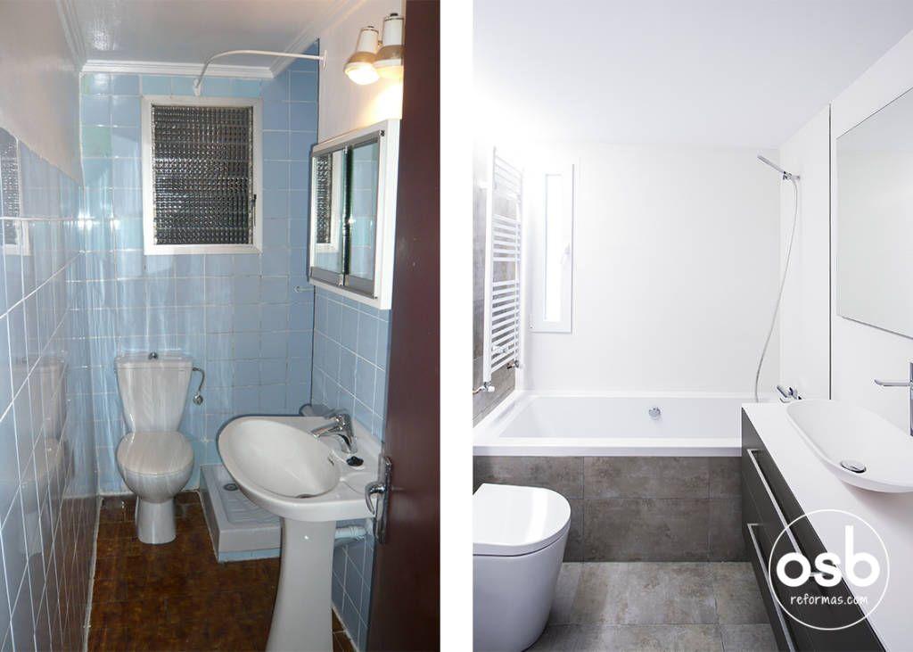 Fotos de space de estilo de osb reformas ba o tus for Bano de color antes y despues