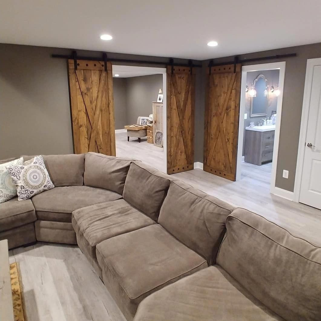 Rustic Finished Basement Ideas: Basement Finishing Ideas And Options In 2020