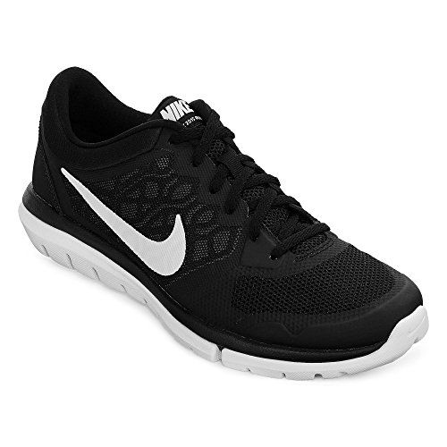 Women's Nike Flex Run 2015 Running Shoe Black/White Size 9.5 M US - The
