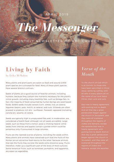 brown photo church newsletter