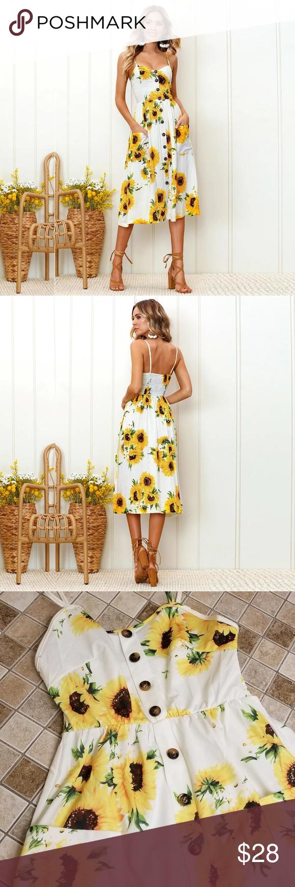 3 30 Sunflower Summer Dress Boutique Dresses Summer Summer Dresses Dresses [ 1740 x 580 Pixel ]