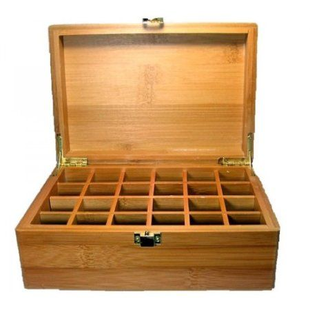 Amazoncom Essential Oil Wooden Storage Box 24 Compartment Health