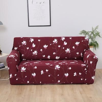 elastic sofa cover printed flowers slipcover tight wrap all rh pinterest com
