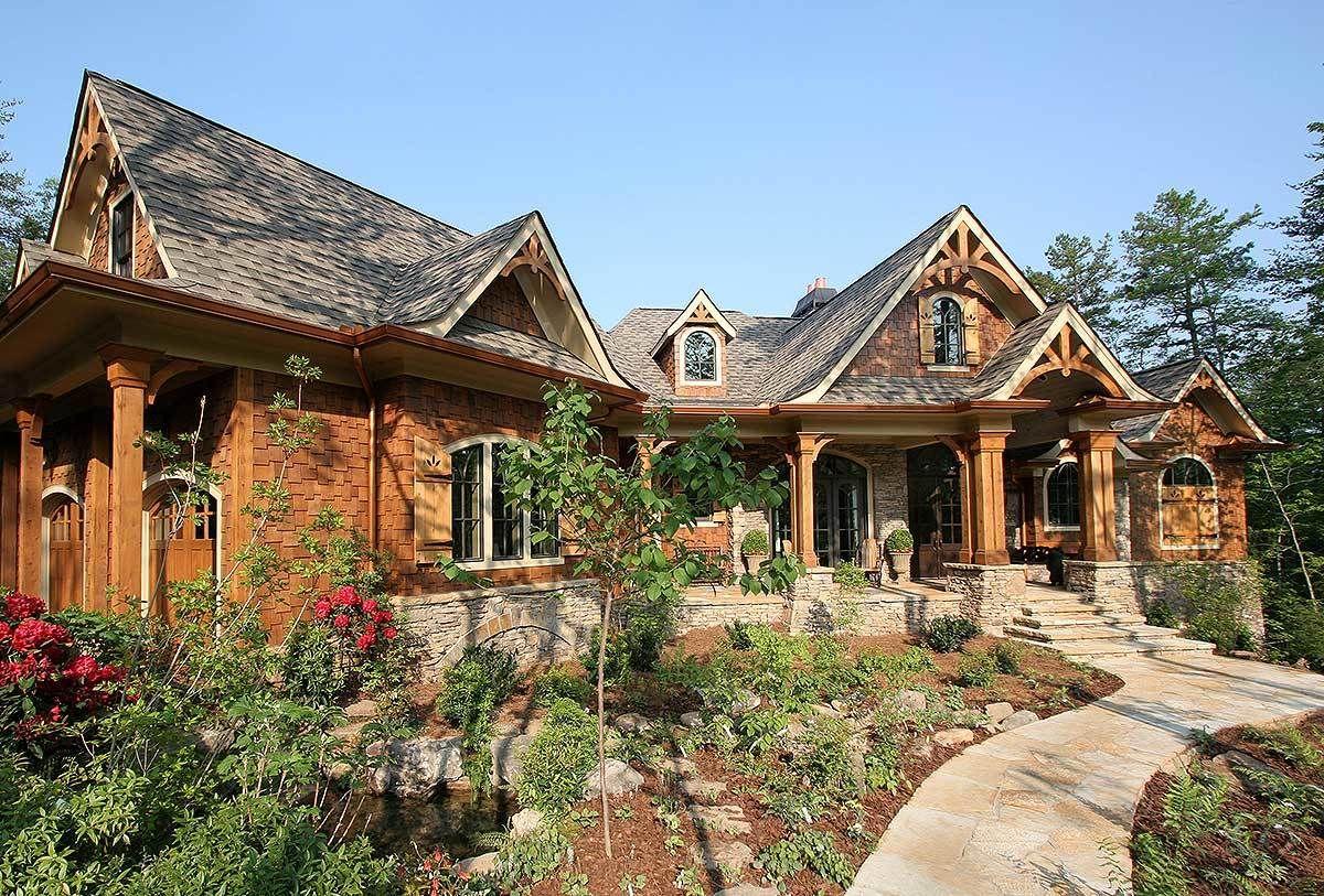 award winning mountain craftsman plan 15617ge 1st floor master rh pinterest com