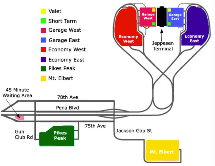 Economy Lot Dia Price In 2020 Denver Airport Airport Parking Denver International Airport