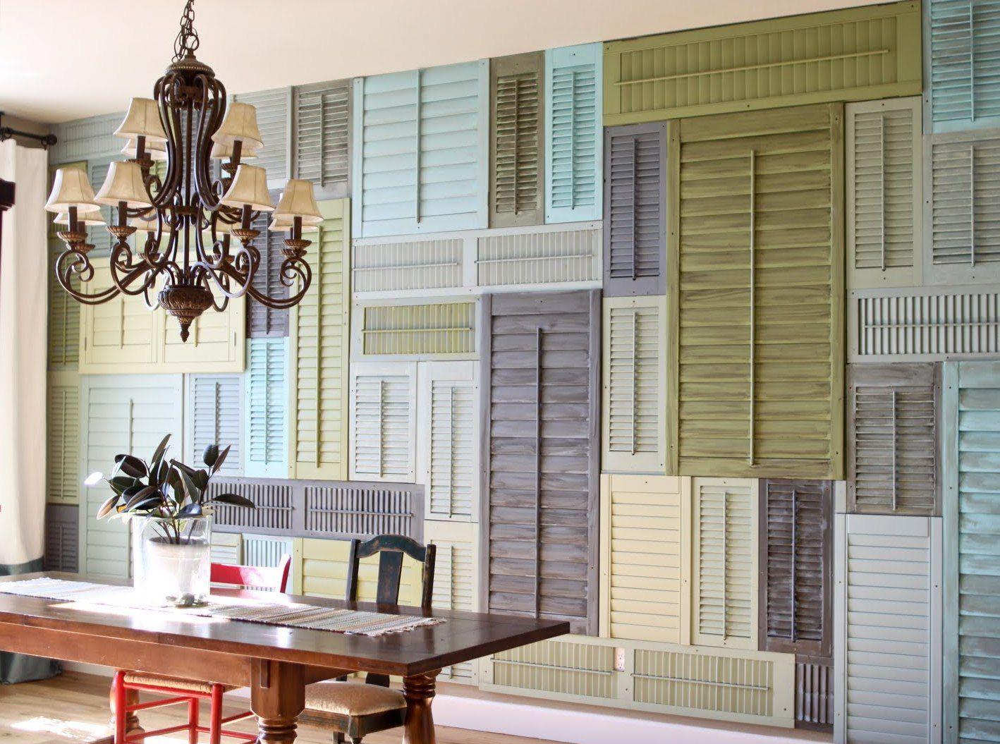 Ideen Für Wandgestaltung Mit Alten Fensterläden