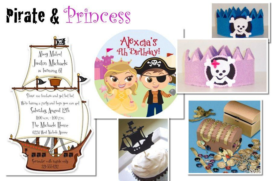 Pirate and Princess Birthday Party Invitations | Pirate Party ...