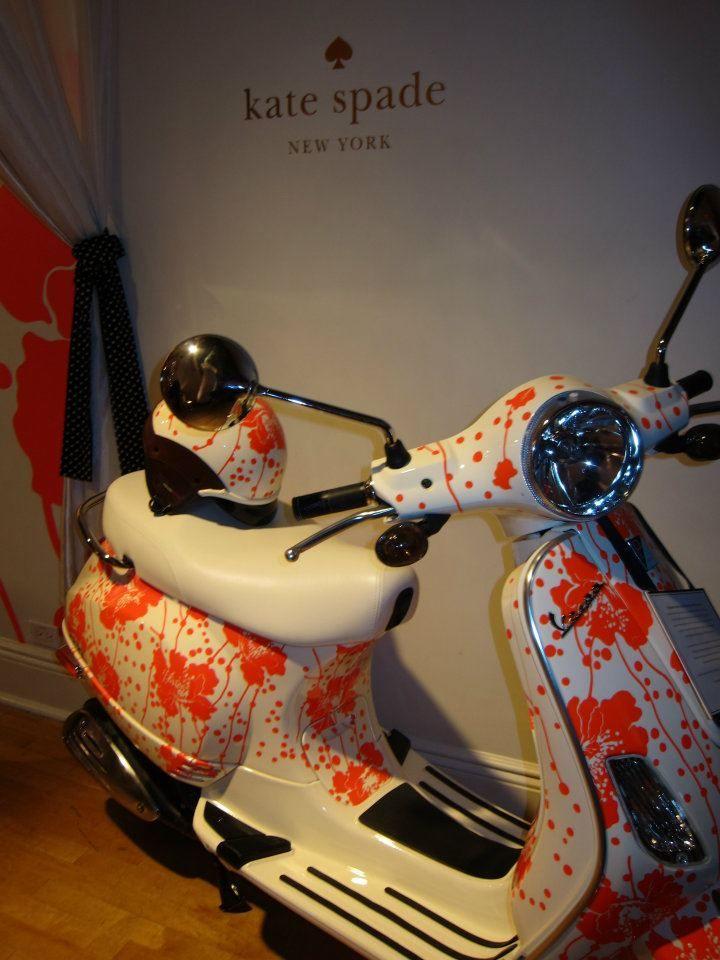 Kate Spade custom Vespa #ridecolorfully