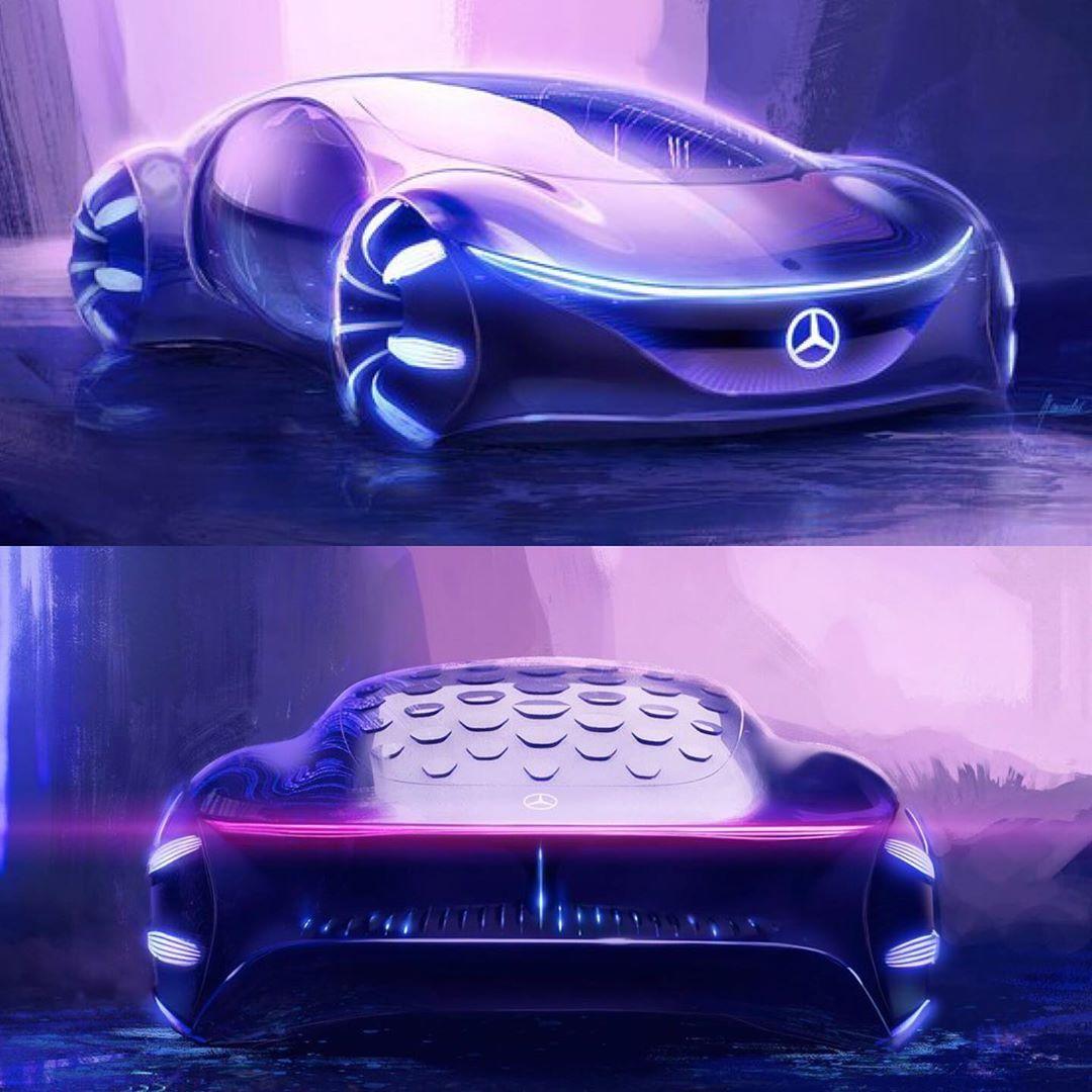 "Car Design Sketch on Instagram: ""Mercedes-Benz VISION AVTR - inspired by"