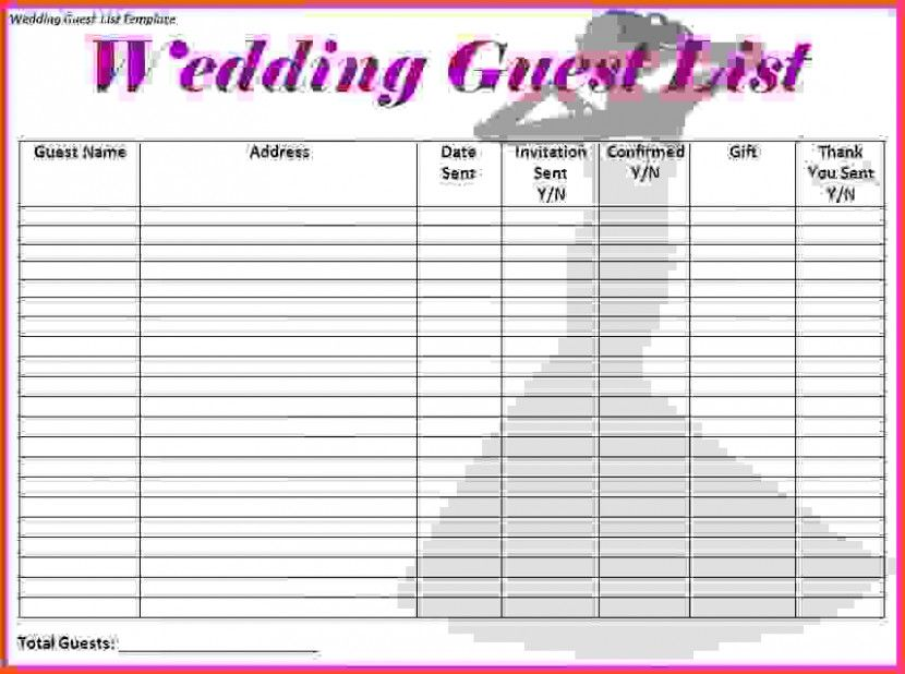 doc template for wedding guest list 17 wedding guest list templates