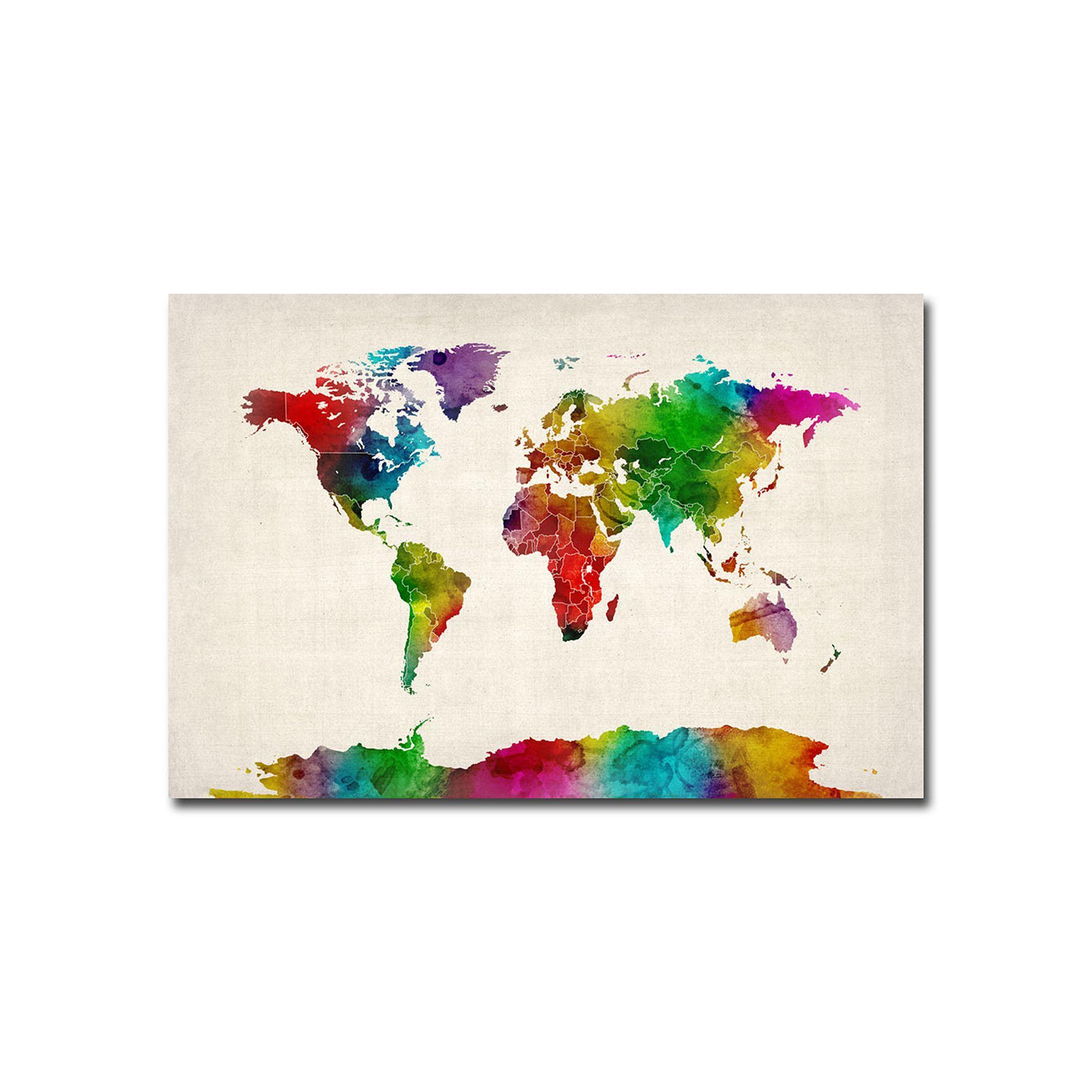 Kohls water color world map ii canvas wall art products kohls water color world map ii canvas wall art gumiabroncs Gallery