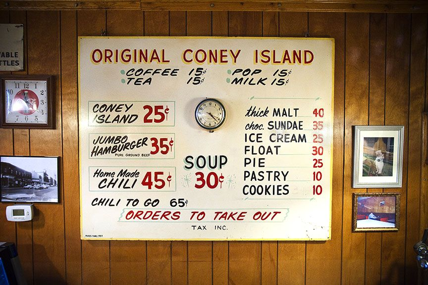 Old Wall Menu From Coney Island Hot Dog Shack My Dad Would Take Me