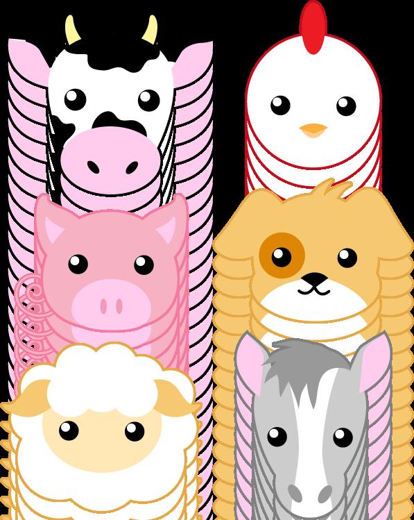 Farm Animals By Midnitehearts Baby Farm Animals Animal Crafts For Kids Farm Animals