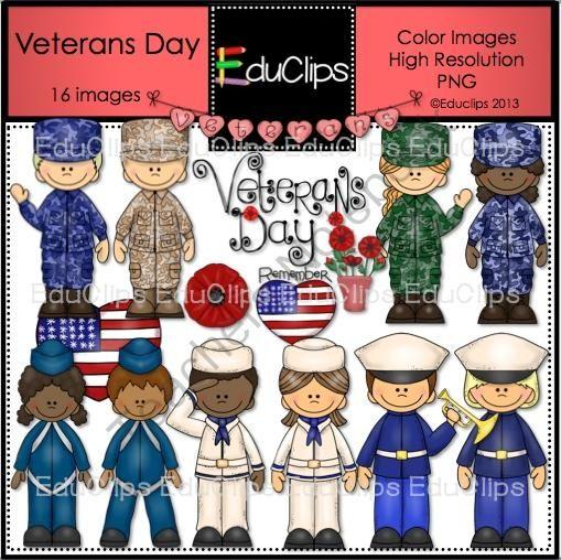 Teachers Notebook Veterans Day Clip Art Veterans Day Art Bundle