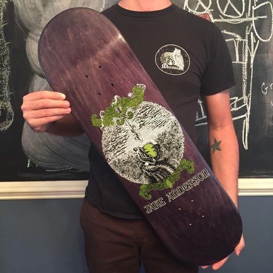 Image of Moonshine Skateboards Jake Anderson Pro Model 8.8