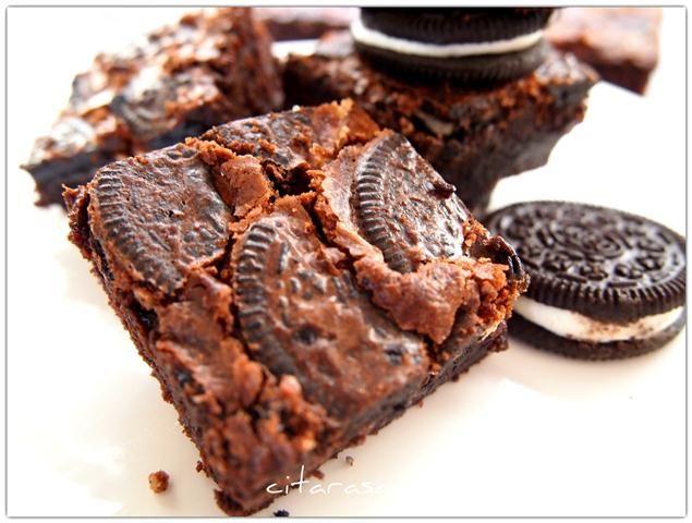 Resipi Citarasawan Fudge Brownies Fudgy Brownies Brownies Oreo