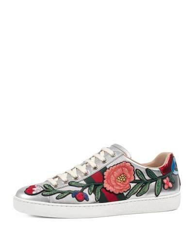7e5002194d6e S0TG9 Gucci New Ace Floral Leather Sneaker