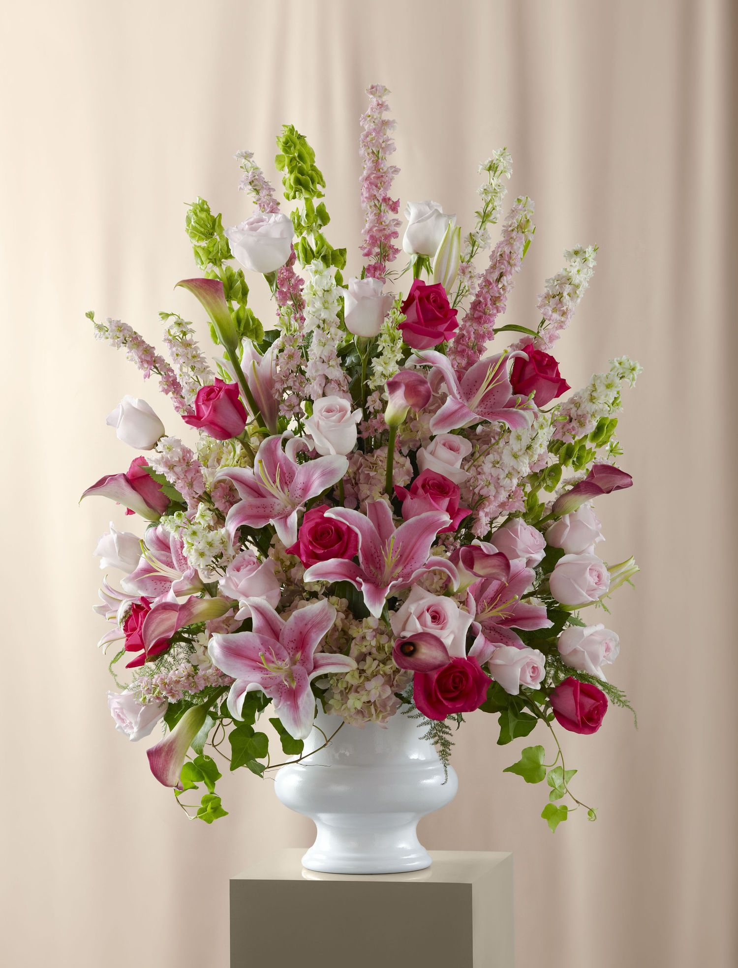 Ceremony flowers large flower arrangements large floral