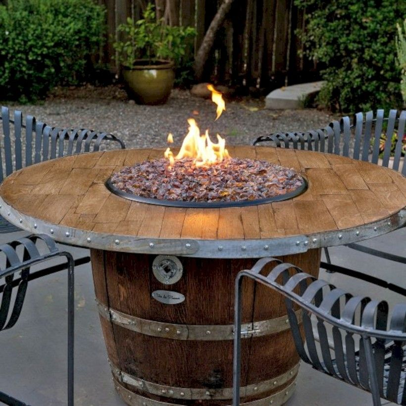 43 diy project fire pit table top to decorate your house in winter rh pinterest com