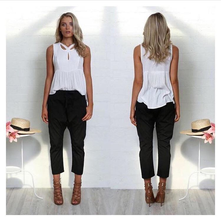 The Gia Pants MUST HAVE Drop Crotch by Madison Square. SHOP online at www.willowandkate.com.au
