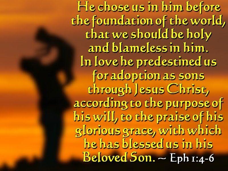 Eph1+4-6+Verses.jpg (image) | Ephesians, Ephesians 1, Inspirational words
